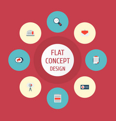 Icons flat style campaign ad banner email vector