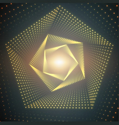 infinite pentagonal twisted tunnel vector image