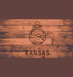 Kansas flag brand vector