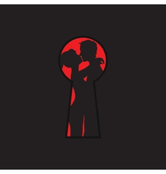 keyhole and lovers vector image