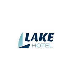 lake hotel letter l icon vector image