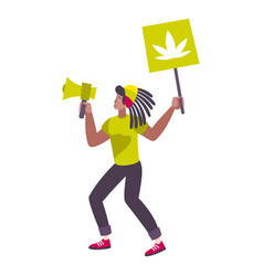 legalize marijuana activist composition vector image