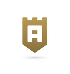 letter a shield logo icon design template elements vector image