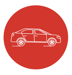 line art style car icon vector image