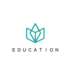 Line book education logo vector