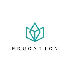 Line book education logo vector