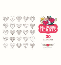 line icons heart vector image