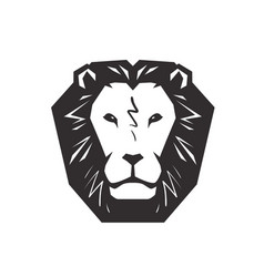 Lion logo animal wildlife symbol or icon vector