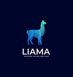 Logo alpacas elegant gradient colorful vector
