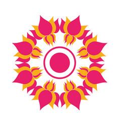 mandala with flowers hindu decoration vector image