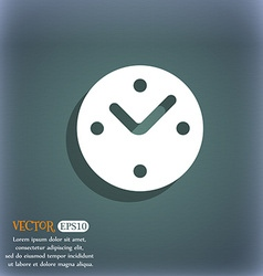 Mechanical Clock icon symbol on the blue-green vector image