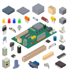 Microchip digital chip processor technology vector