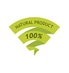 natural product 100 percent vector image
