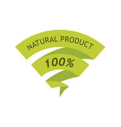 Natural product 100 percent vector