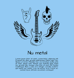 Nu metal music poster vector