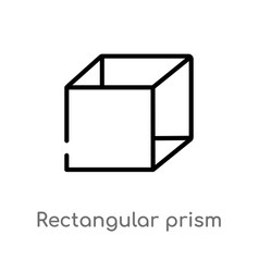Outline rectangular prism volume icon isolated vector