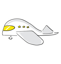 Painting a white airplaneair transport or vector