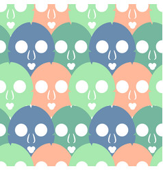 Pattern with skin care masks vector