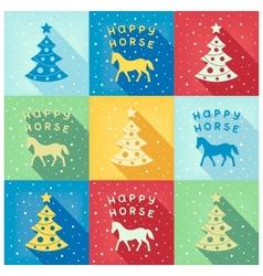 Pop-art happy horse VS vector image vector image