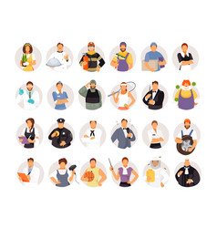 portraits of people of different professions vector image