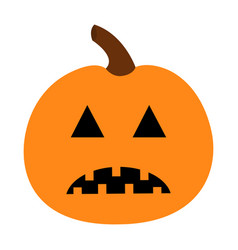 Pumpkin happy halloween funny creepy sad face vector
