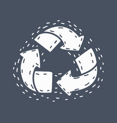 recycle icon on dark background vector image