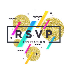 Rsvp invitation template for event vector