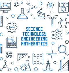 Science technology engineering and mathematics vector