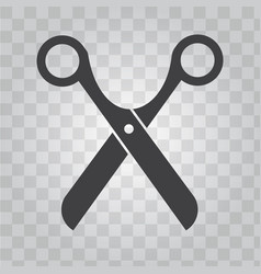 scissors icon for barber shop symbol solid vector image