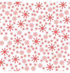 seamless christmas snowflake white background vector image