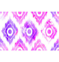 Seamless ikat textile pattern vector