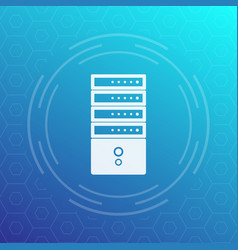 server rack icon vector image