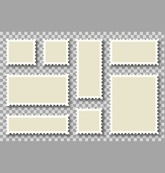 Set blank postage stamp - different form of vector