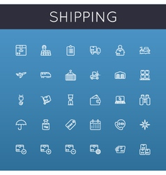 Shipping Line Icons vector
