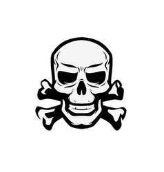 Skull and crossbones symbol jolly roger pirate vector