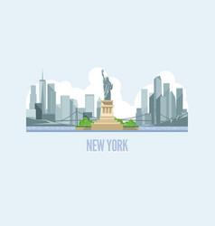 Skyline new york city in usa vector