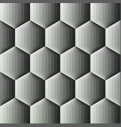Smooth color gradient hexagon background vector