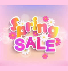 spring sale label 50 percent discount vector image