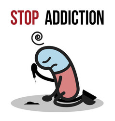 Stop addiction cocaine conceptual vector