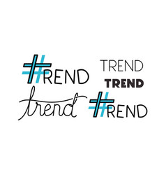 trend symbols with words vector image