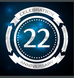 Twenty two years anniversary celebration with vector