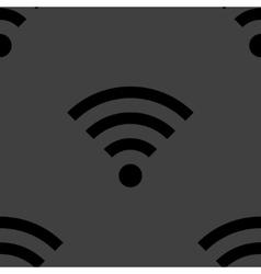 WI-FI web icon flat design Seamless gray pattern vector image