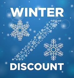 Winter discount and snow lane vector