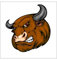 Bull Head Mascot - for sport vector image vector image