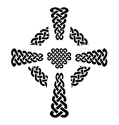 celtic style knotted cross with eternity knots vector image vector image