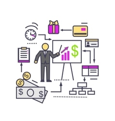 Concept of Financial Analysis Icon Flat vector image vector image