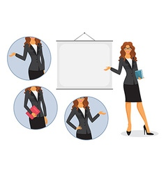 Female teacher with board vector image vector image