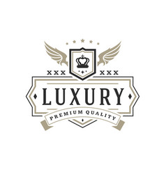 luxury logo template object for logotype or vector image vector image