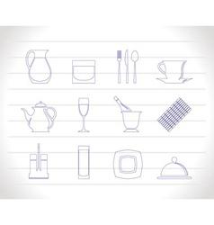 restaurant club icons vector image