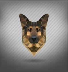 Shepherd sheep-dog abstract triangle polygonal vector